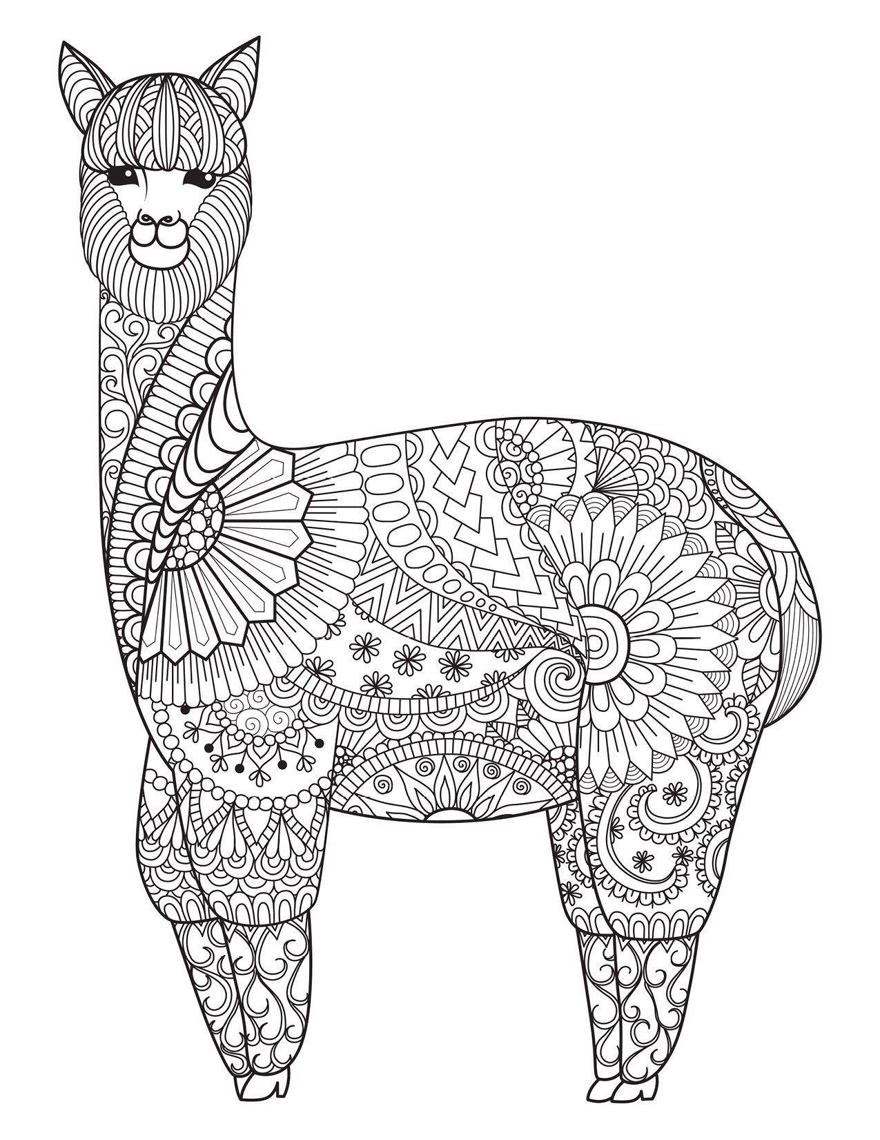 mandala ausmalbilder lama  kinder ausmalbilder