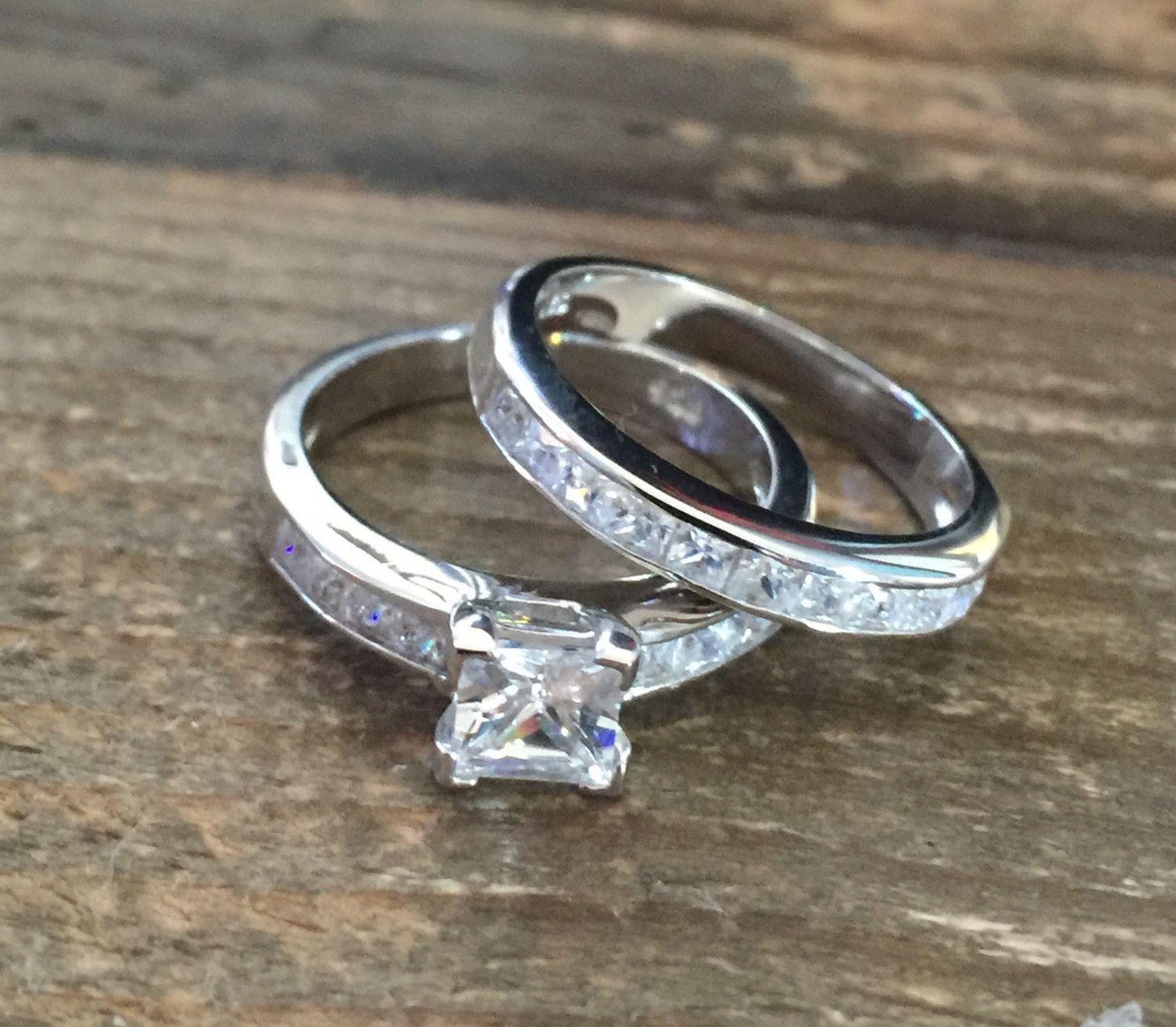 a perfect 1.2ct princess cut russian lab diamond channel set