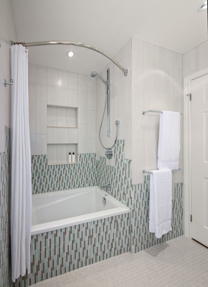 Love Floor To Ceiling Look Used Double Curved Shower Rod And 96