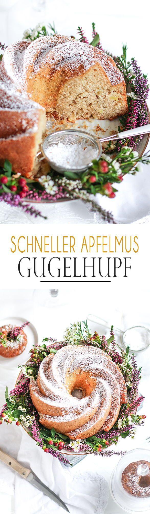 Schneller Apfelmus Gugelhupf Kuchendeern Gugelhupf Streuselkuchen Mit Obst Erbsenpuree Rezept