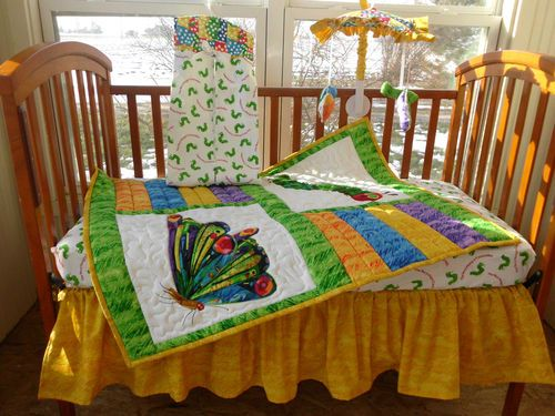 Custom 10pc Eric Carle Very Hungry Caterpillar Baby Crib Bedding Set Ebay