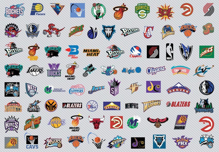Nba Team S Logos During The Years Nba Teams Nba Logo Nba Basketball Teams