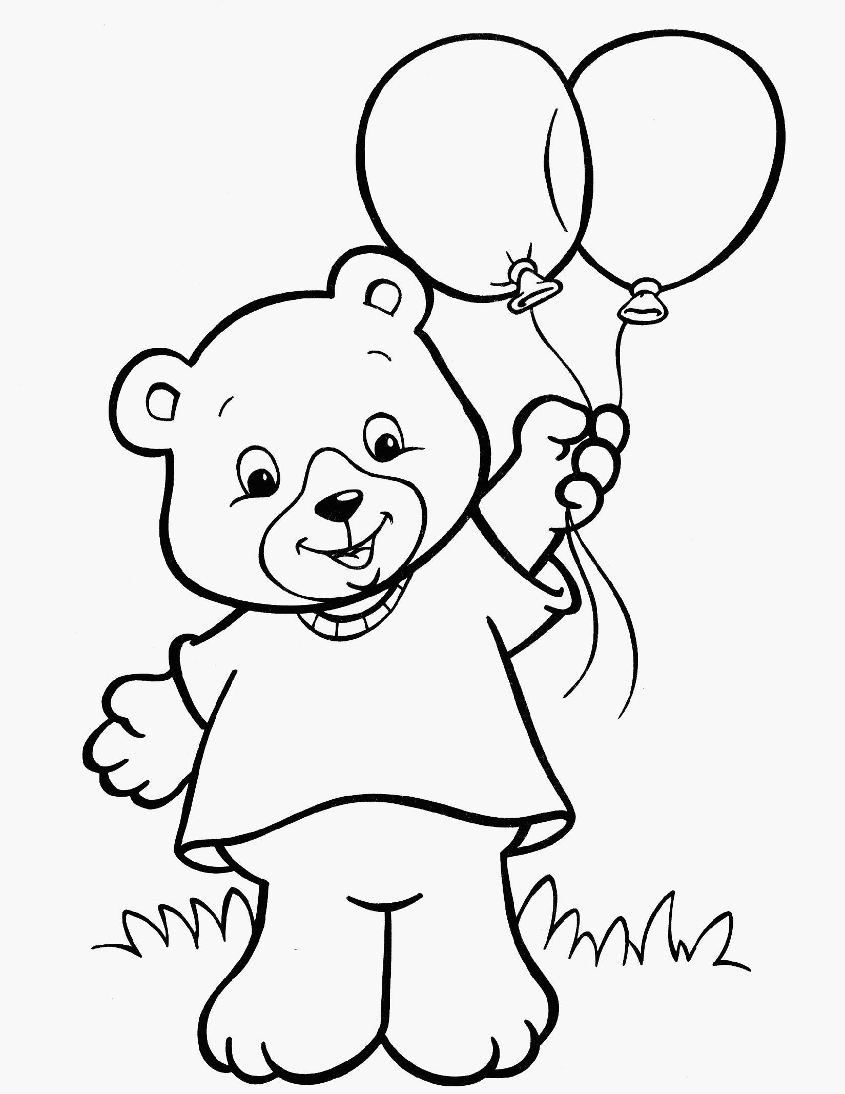 Fresh Coloring Pages For 3 Year Olds 92 With Additional Free In Bear Coloring Pages Birthday Coloring Pages Summer Coloring Pages