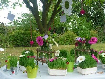 diy d co gazon fleuri mariage pinterest fleurs fra ches caissette et ble. Black Bedroom Furniture Sets. Home Design Ideas