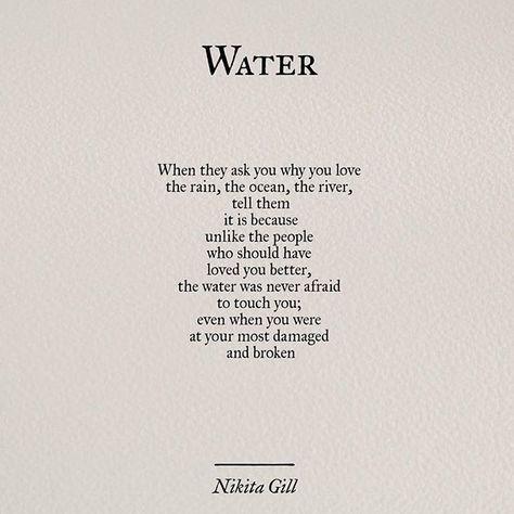 "Water is the only thing that still touches my body. That, and the warm, beautiful arms of my children. Mehr zum Thema ""Gesundheit"" gibt es auf interessante-dinge.de"
