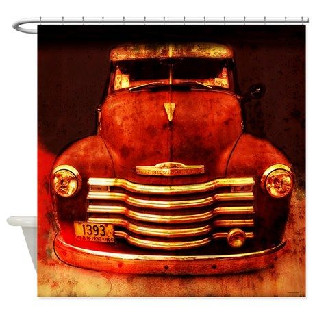 Vintage 1950 Chevy Truck Shower Curtain On CafePress