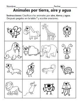 animals unit unidad sobre los animales dual language english spanish science activities. Black Bedroom Furniture Sets. Home Design Ideas
