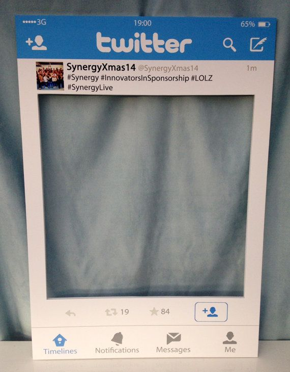 Large Instagram Frame Prop Large Medium Personalised Twitter Photo Booth Prop Frame