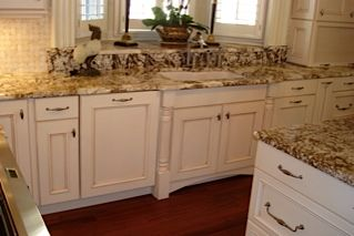 Raleigh Kitchen Design, JeanE Kitchen And Bath Design Decorative Posts  Accent The Large Sink.