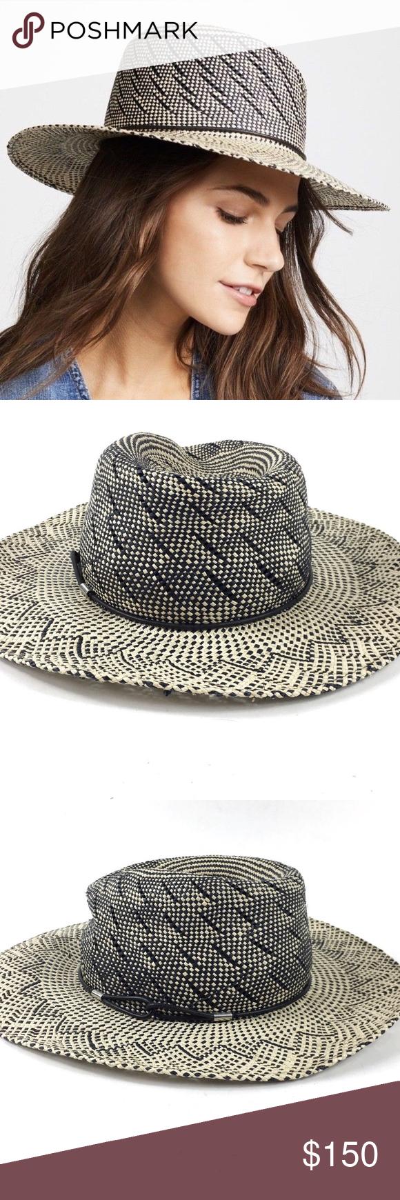 c2e26a4350dcc3 Size Medium / Large Rag and Bone Straw Fedora Hat Pre-Owned Rag and Bone