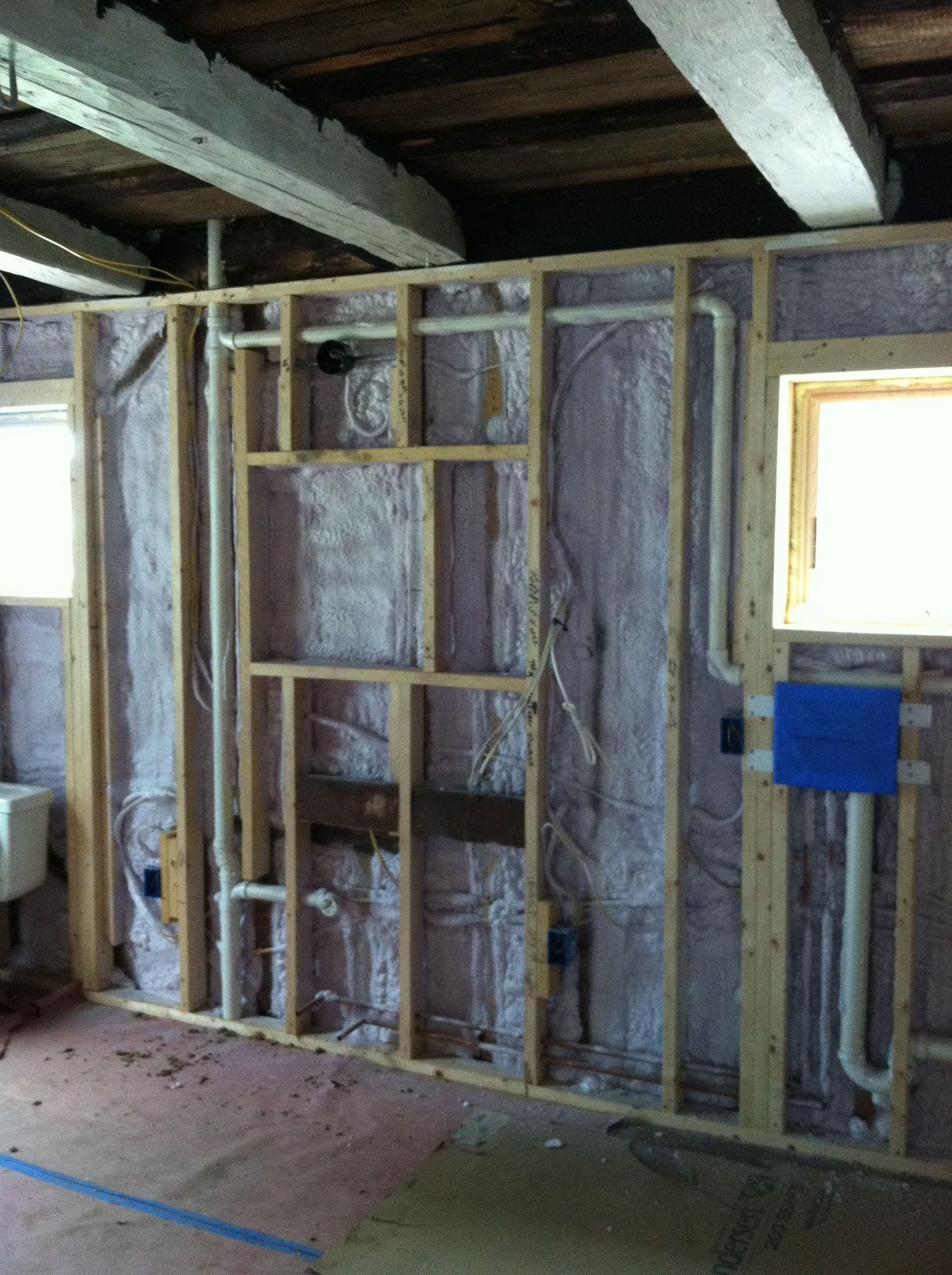 The Wonders And Joys Of Spray Foam Insulation Now We Can Start The Inside Finish Work Woooohoooo Foam Insulation Spray Foam Insulation Spray Foam