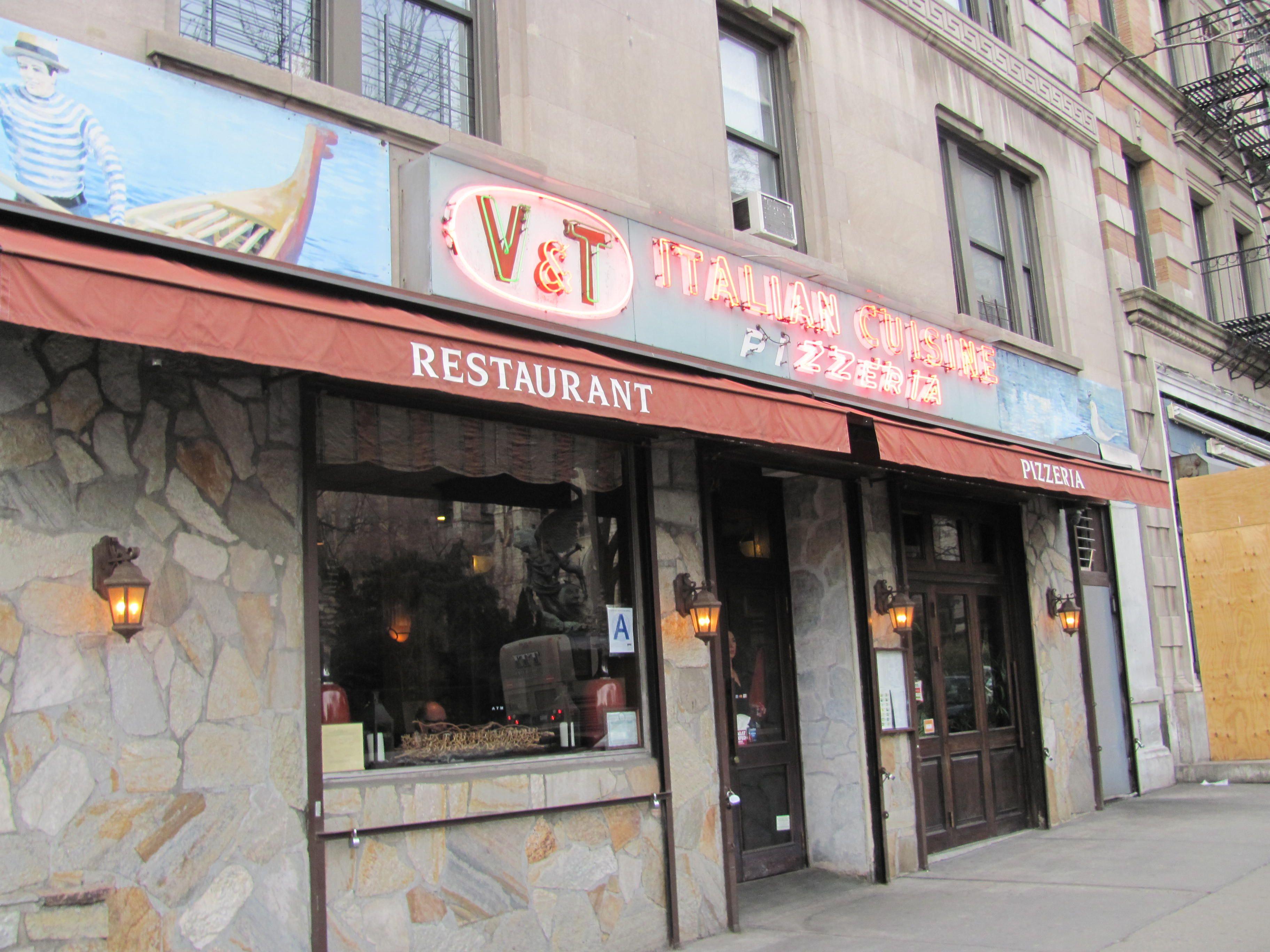 New York City pizza institution, V & T Italian Restaurant