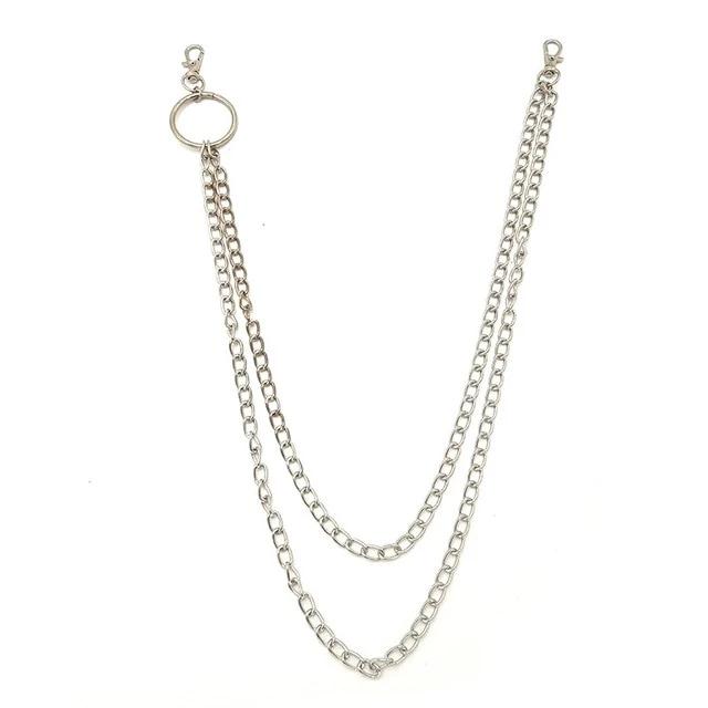 Egirl Eboy Outlet Chain Big Rings Metallic Silver