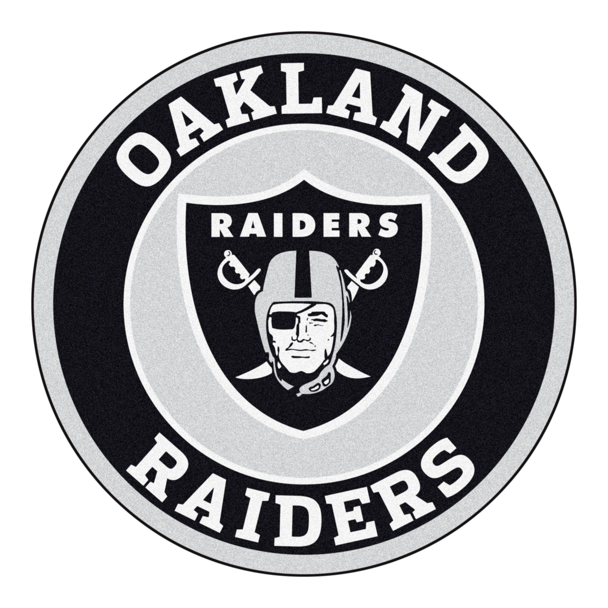 Roundel Mat Oakland Raiders Oakland Raiders Logo Nfl