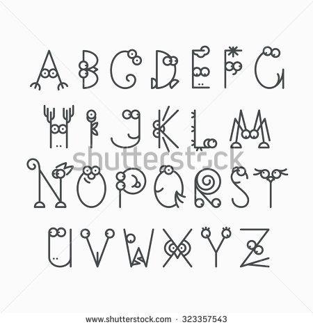 stock-vector-cute-line-latin-alphabet-isolated-outline