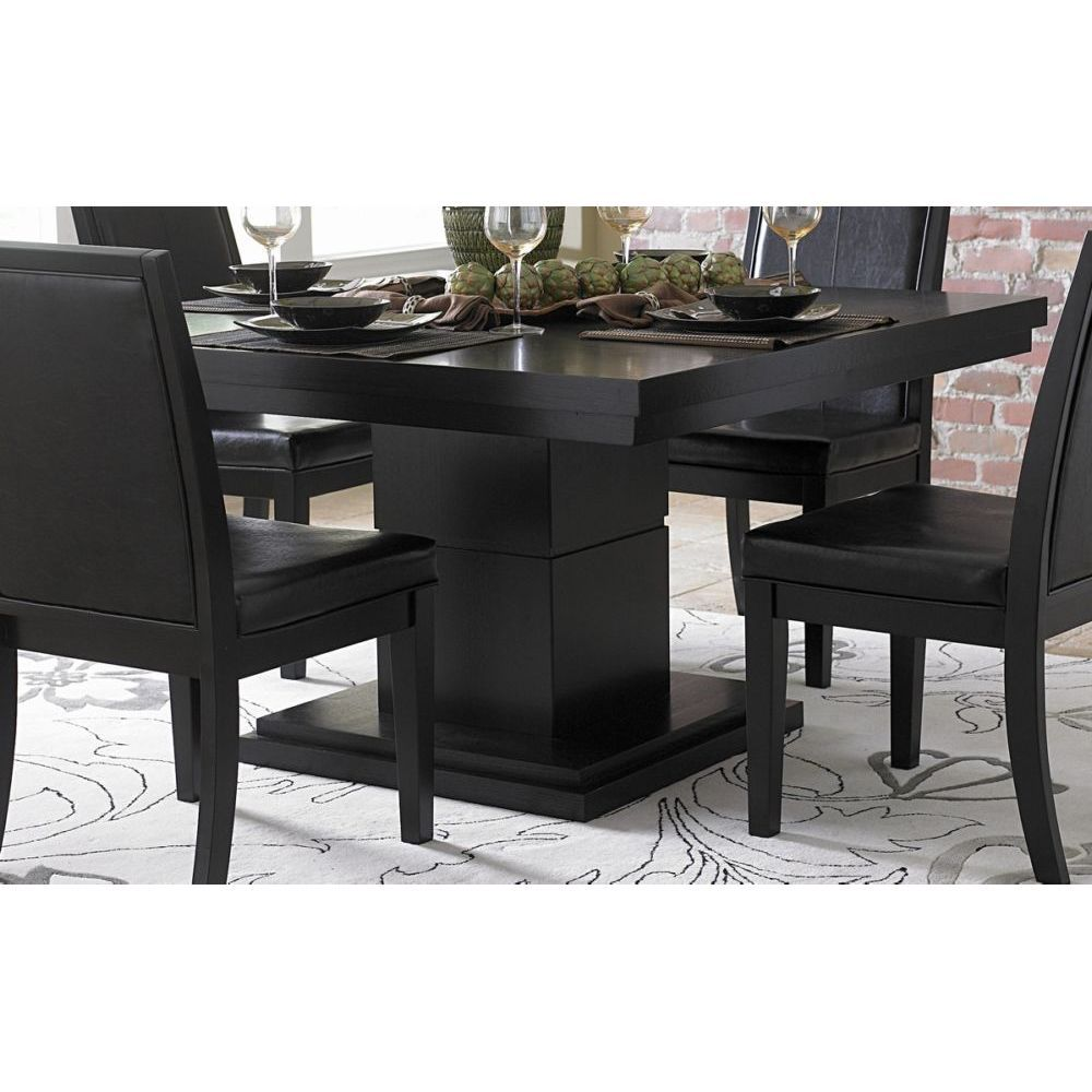 Black Square Dining Room Table Home Design Pinterest Dining - Black square kitchen table with chairs
