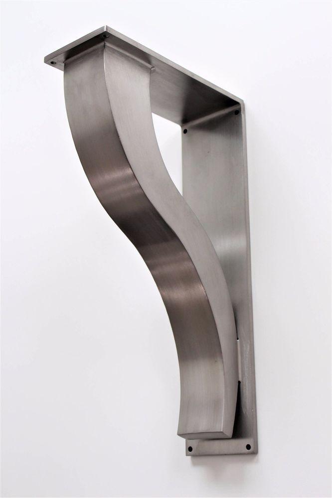 Stainless Steel Countertop Support Brackets Architectural Corbels Shelf Modern Kitchen Bar Overhang Mantel Floating Shelves