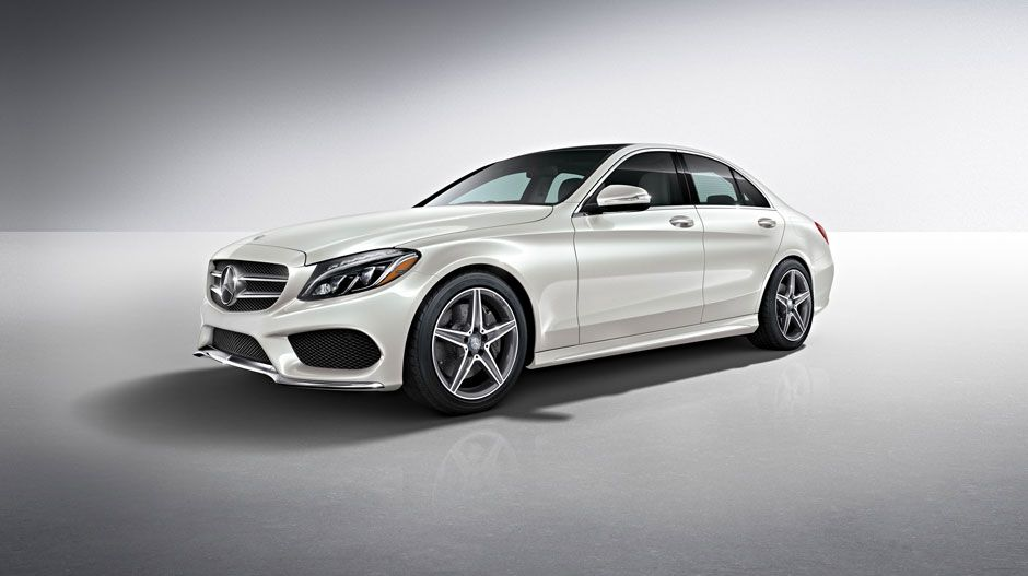 2017 Mercedes C300 Sedan In Polar White With Sport Package And Full Led Headlamps Amg Lower Body Styling 18 Inch Wheels Evoke The Pure Performance