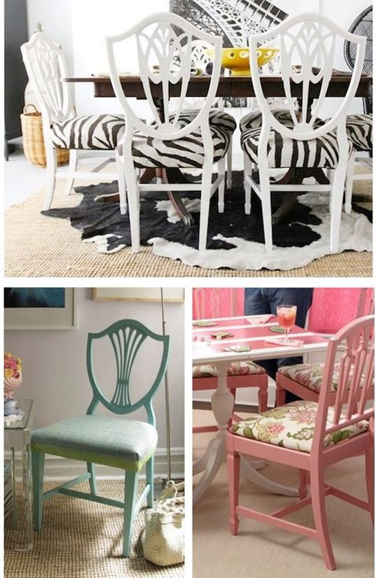 Painted Shield Back Chairs With Zebra Fabric  Furniture Redone Simple Zebra Dining Room Chairs Review