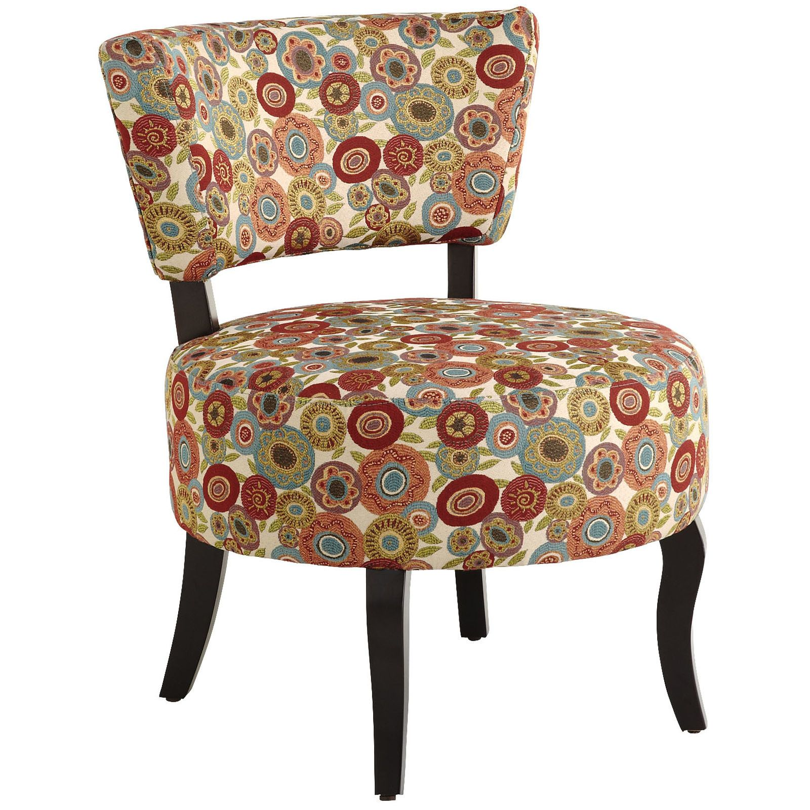 Sabine Red Fresh Flowers Chair