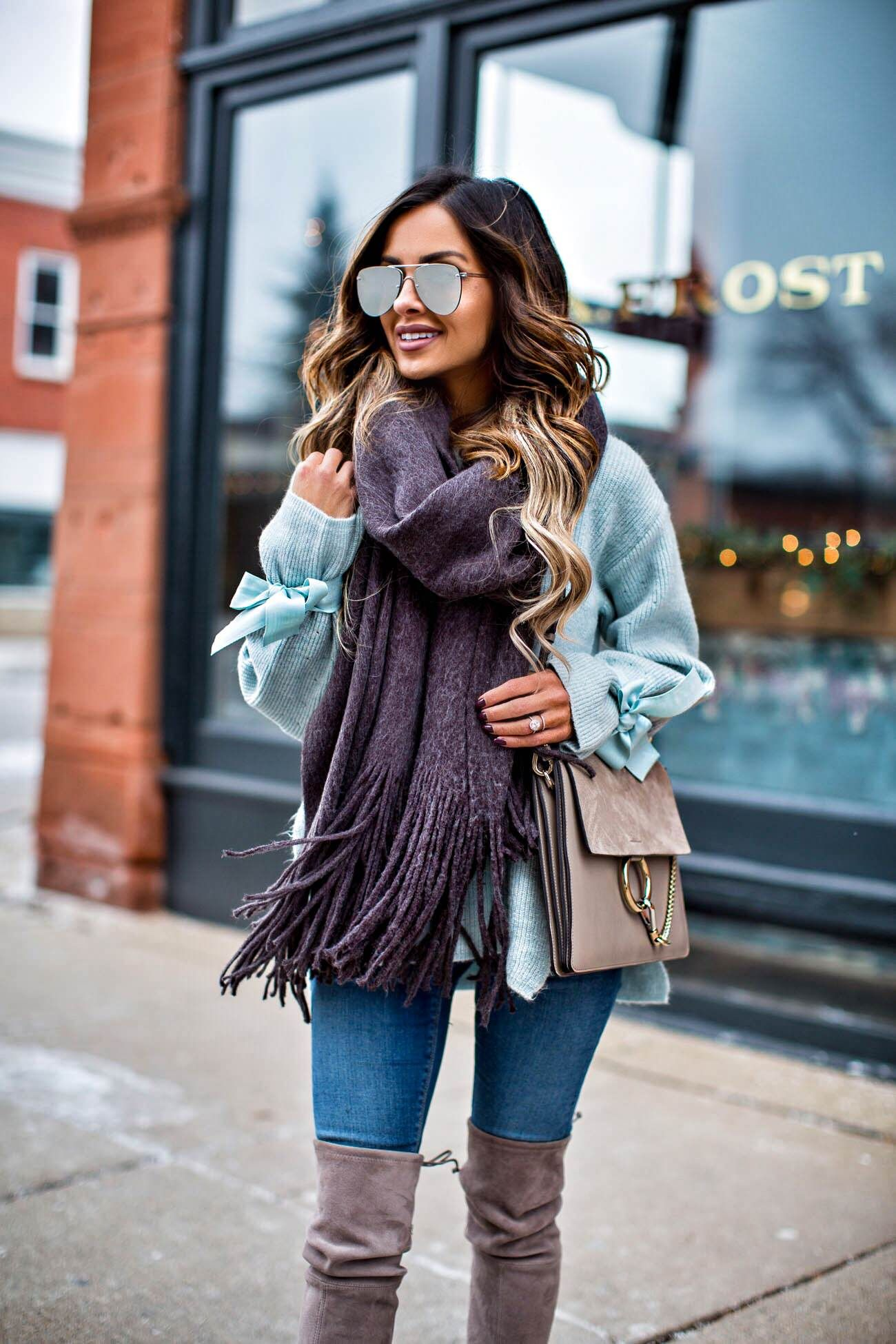 a21966e6b078 fashion blogger mia mia mine wearing a chloe faye medium bag and a free  people brushed scarf from nordstrom