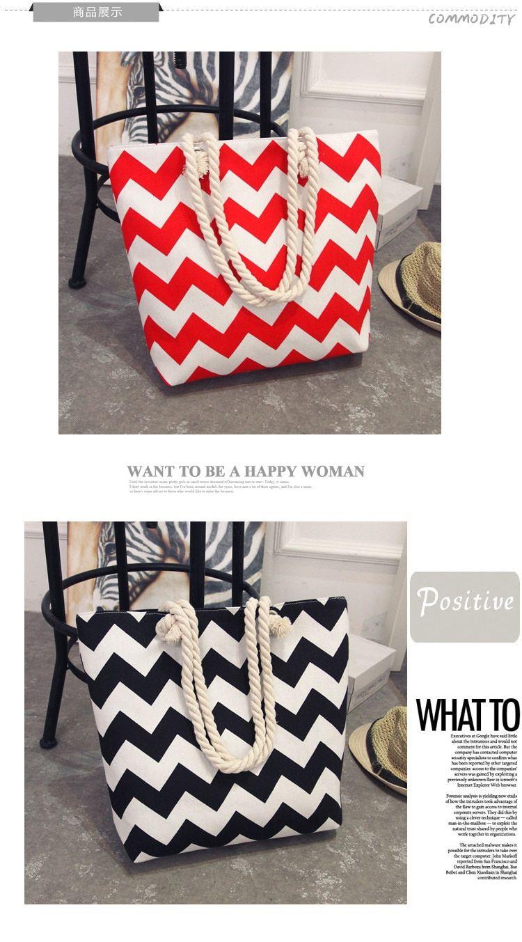 3271eba335018 Best New Summer Women Canvas bohemian style strip Shoulder Beach Bag Female  Casual Tote Shopping Big Bag floral Messenger Bags