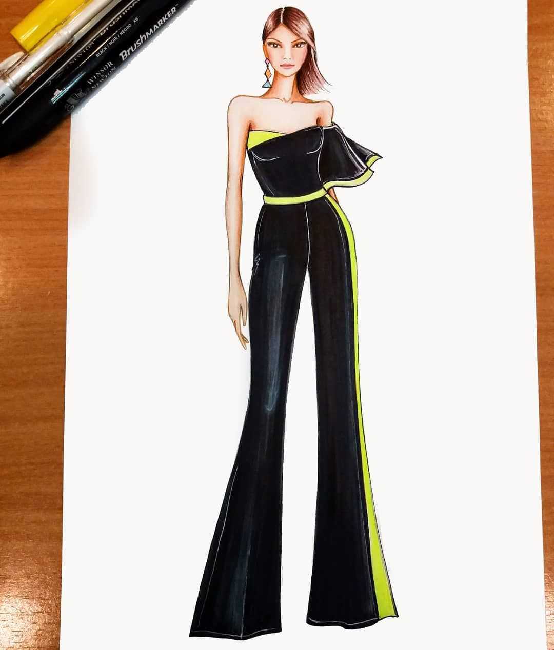 "Photo of Dragana Šebez Lukić on Instagram: ""Play with neon . . . . . #fashion#fashioninspiration #fashiondesigner #fashiondesign #fashionillustrator #fashionillustration #fashionart…"""