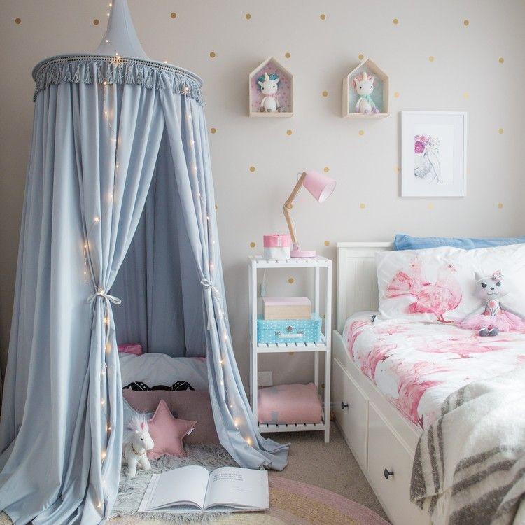 baldachin im kinderzimmer prinzessin kinderzimmer. Black Bedroom Furniture Sets. Home Design Ideas