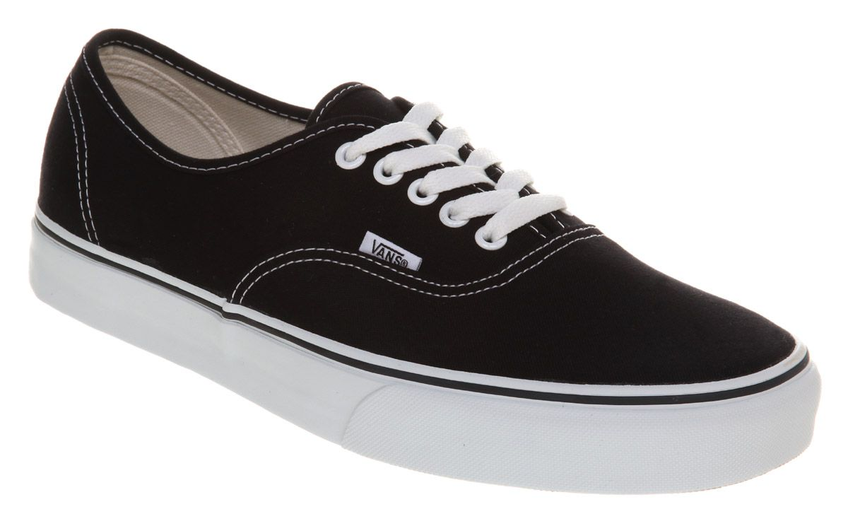 black and white vans junior