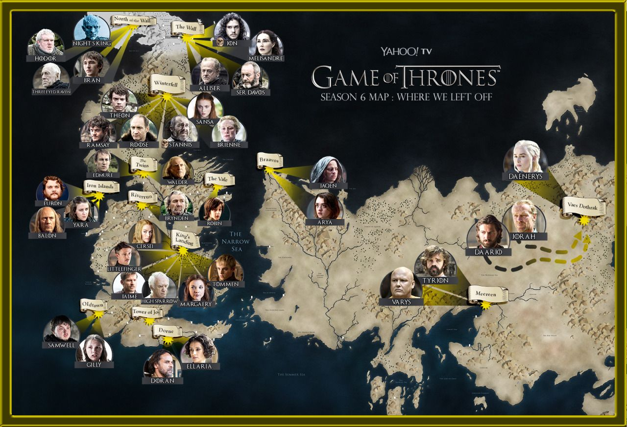 Game of Thrones Season 6 / Where\'s Waldo? | Map It | Pinterest ...