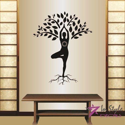 Tree Wall Decal Yoga In Art Pinterest Wall Decals Walls And - Zen wall decalsvinyl wall decal yin yang yoga zen meditation bedroom decor