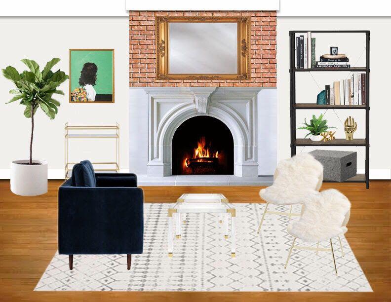 Living Room Mood Board Interior Design Virtual Design Glam Modern