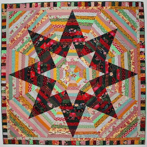 String-pieced Big Star Quilt | Simply Selvedges | Pinterest | Big ... : big star quilt block - Adamdwight.com