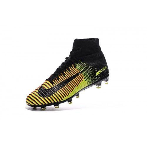 best website d61d1 a9690 Baratas Nike Mercurial Superfly V AG Amarillo Rojo Negro Online Botas De  Futbol