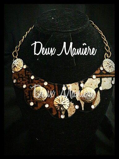 Animal print necklace. Deuxmaniere@gmail.com