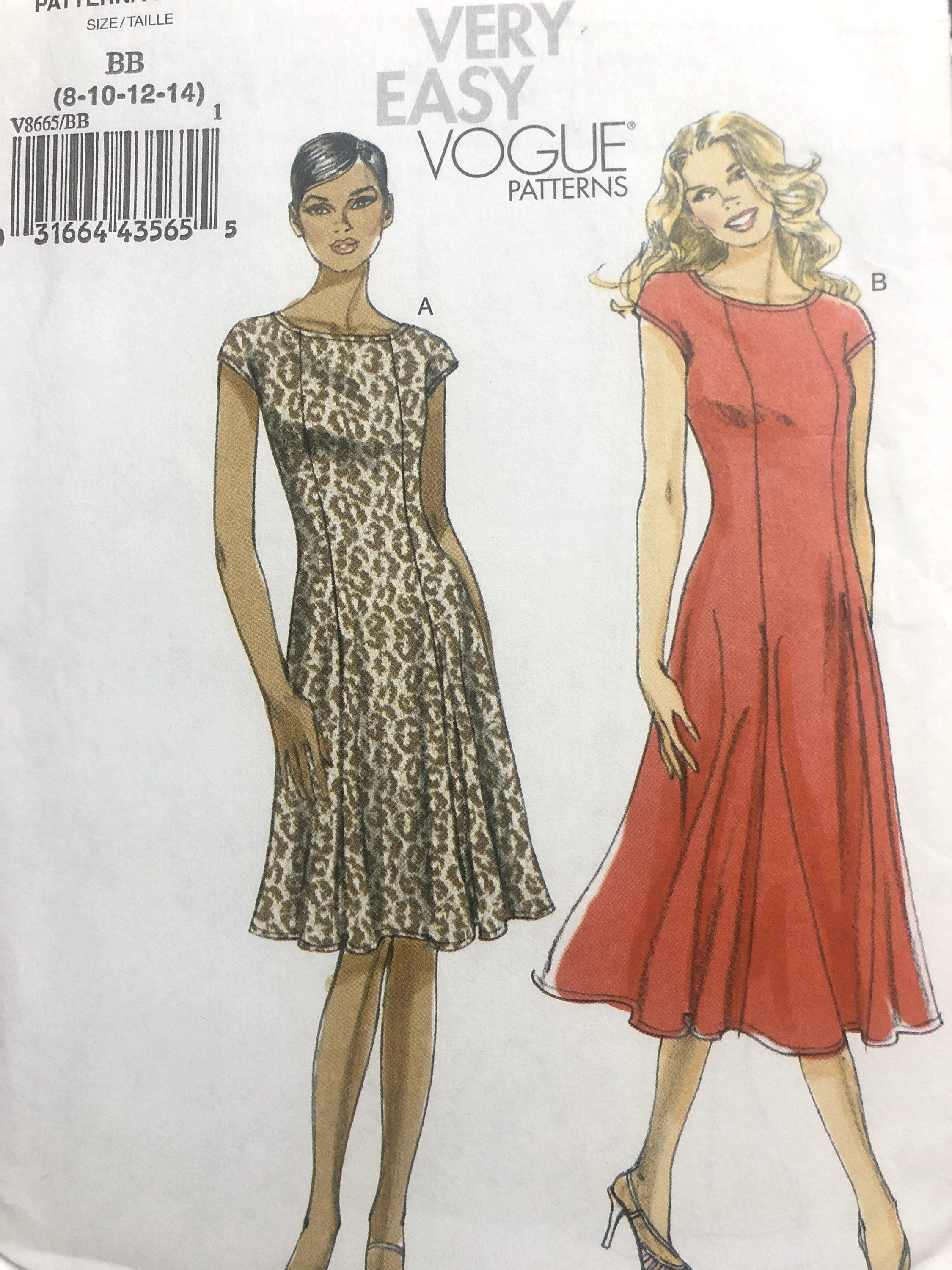 Misses Dresses Sewing Pattern Very Easy Vogue Vogue 8665
