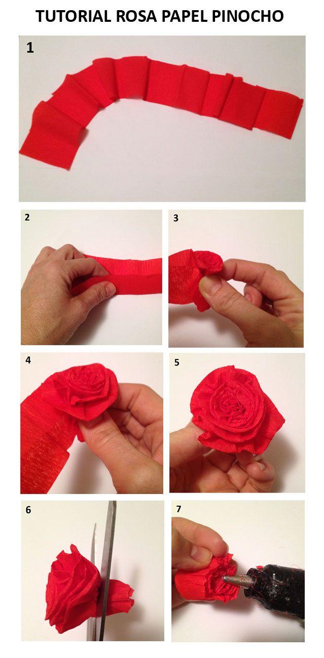 Flores de papel paso a paso faciles buscar con google - Como hacer flores de papel ...
