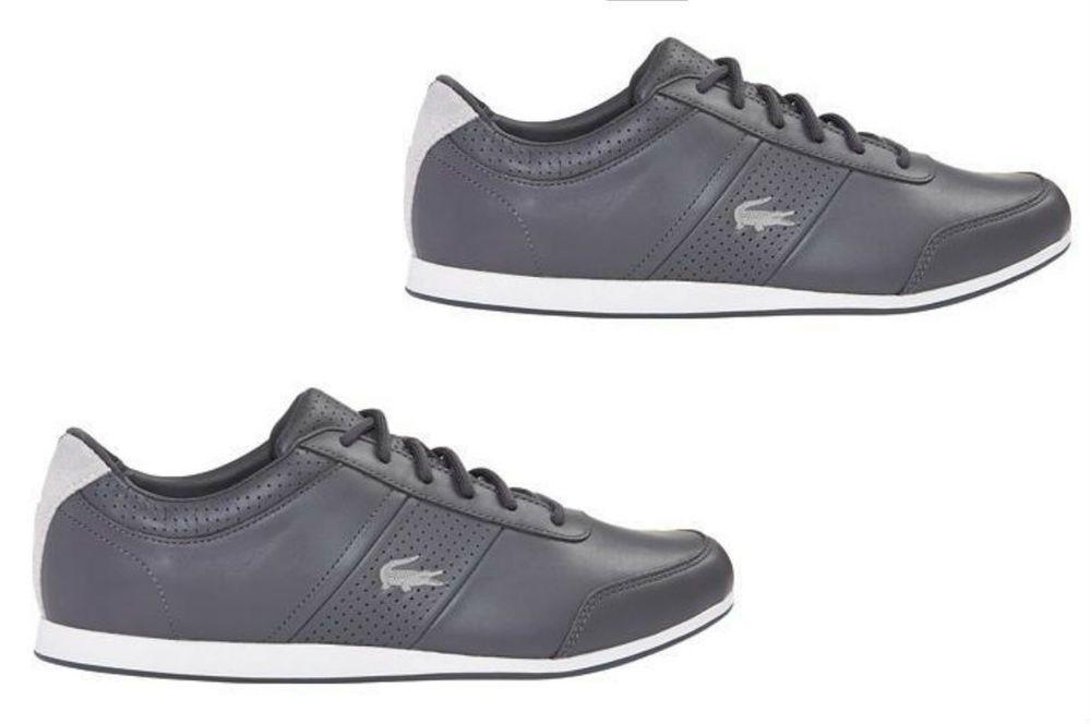 Men's Lacoste Embrun 116 Sneaker Dark Grey Leather 7-31cam0112248