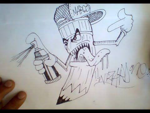 How To Draw Graffiti Pencil Character Como Dibujar Un Lapiz Con Sprau De Pintura Graffiti Graffiti Drawing Drawings