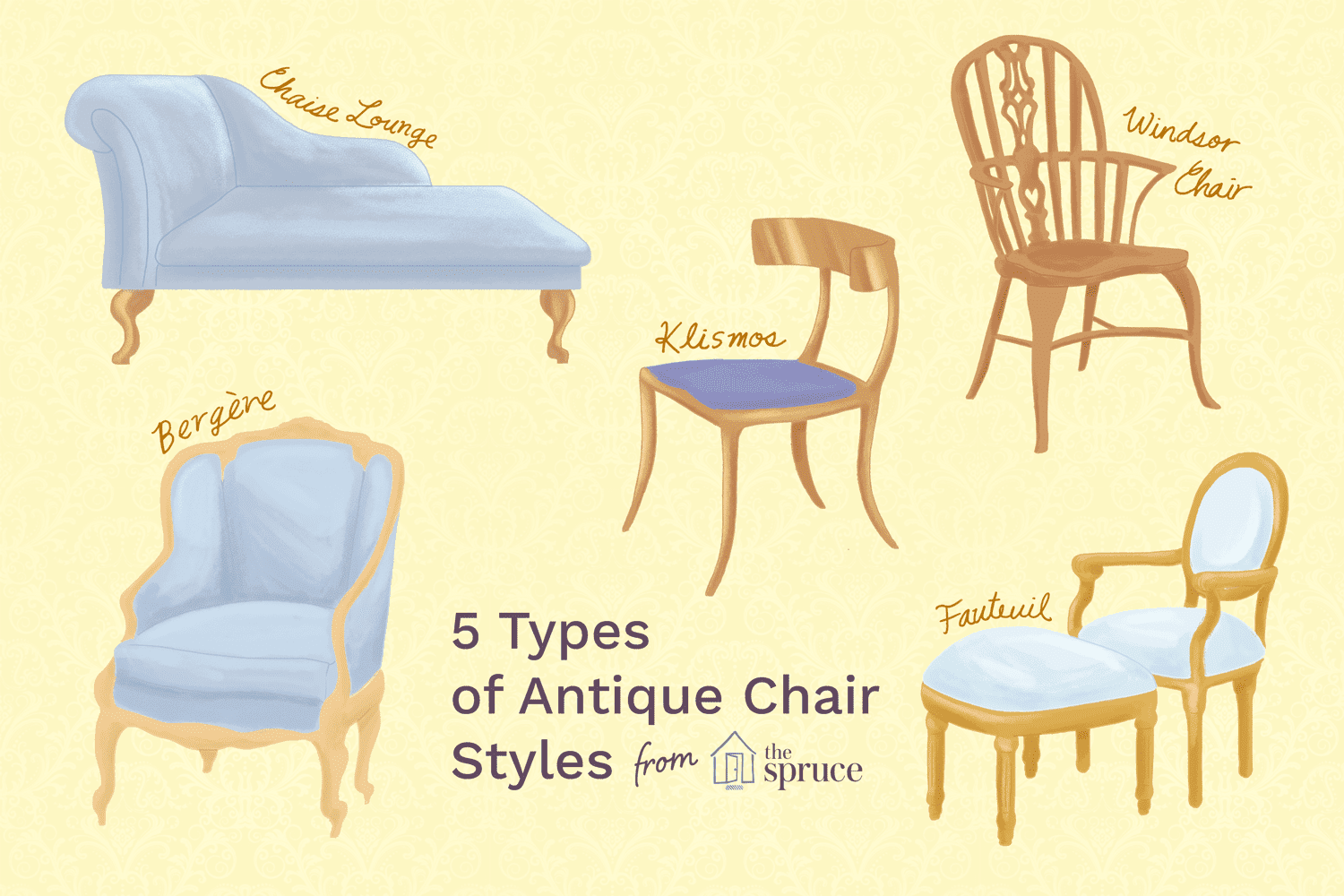 Here Is A List Of Many Types Of Antique Chair Styles Developed In Europe And The United States Over The In 2020 Antique Chair Styles Antique Rocking Chairs Chair Style
