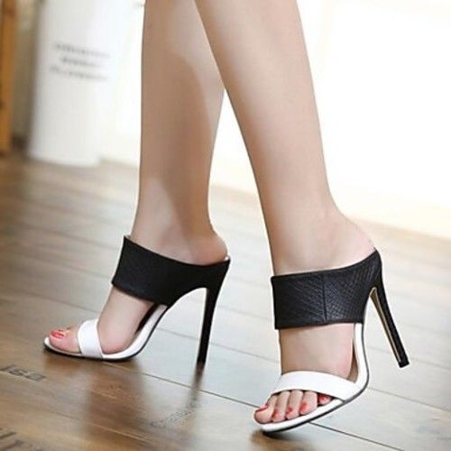a25aaa00b2116d Women s PU(Polyurethane) Spring   Summer Sandals Stiletto Heel Open Toe   Unbranded  OpenToe  Daily