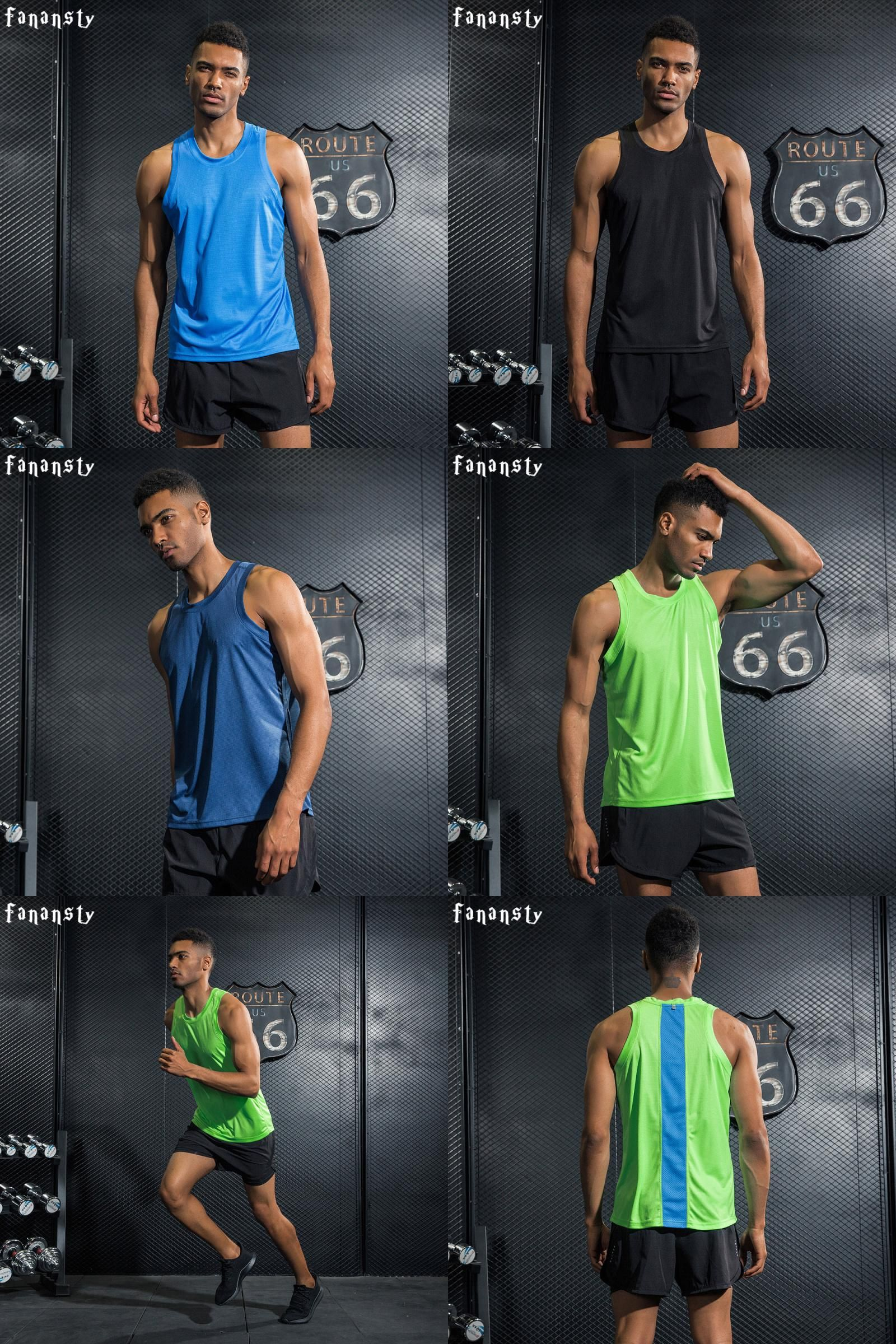 Men/'s Gym Tank Tops Workout Training Vests Bodybuilding Sleeveless T-Shirts 1002