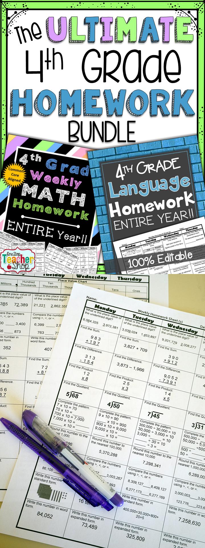 Help with math homework 4th grade