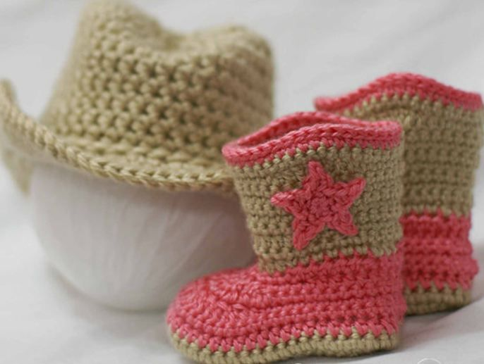 Crochet Cowboy And Booties Pattern Basic Beauty Pinterest