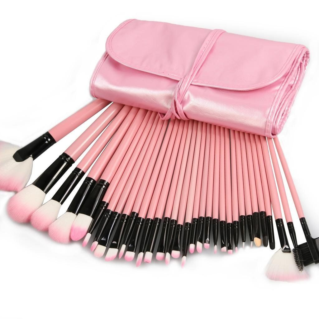 32 Piece Makeup Brush Sets Cosmetic Kit Tools With Faux
