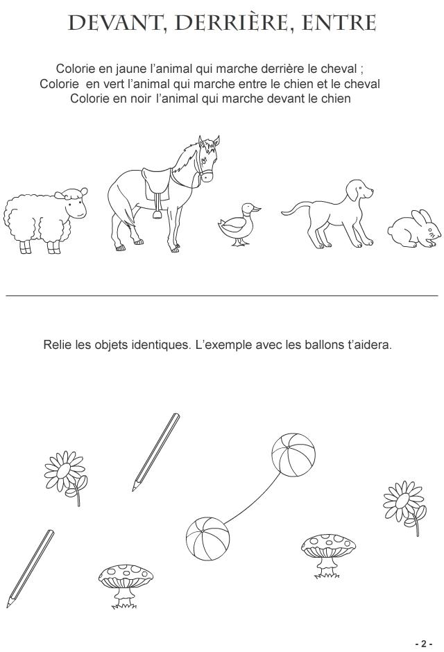 Connu Jeux pour enfants de 3-4 ans Fiche 2 : les animaux à la queue leu  DN73
