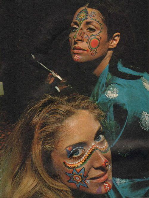 1960 S Fashion Hippie Face Paint Psychedelic Makeup Hippie Makeup