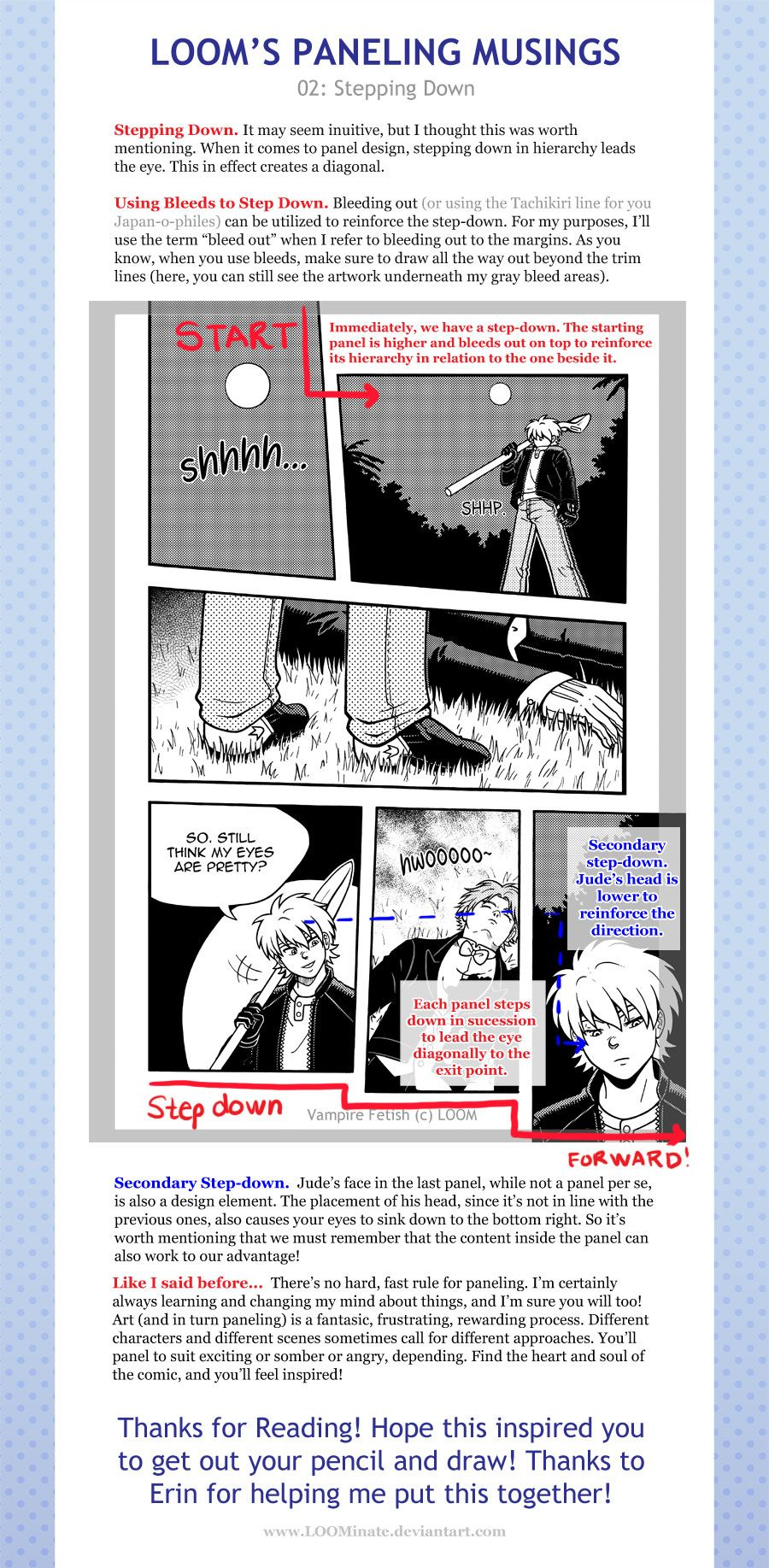 Loom S Paneling Musings 02 Stepping Down By Loominate Deviantart Com On Deviantart Comic Tutorial Comic Book Layout Comic Layout