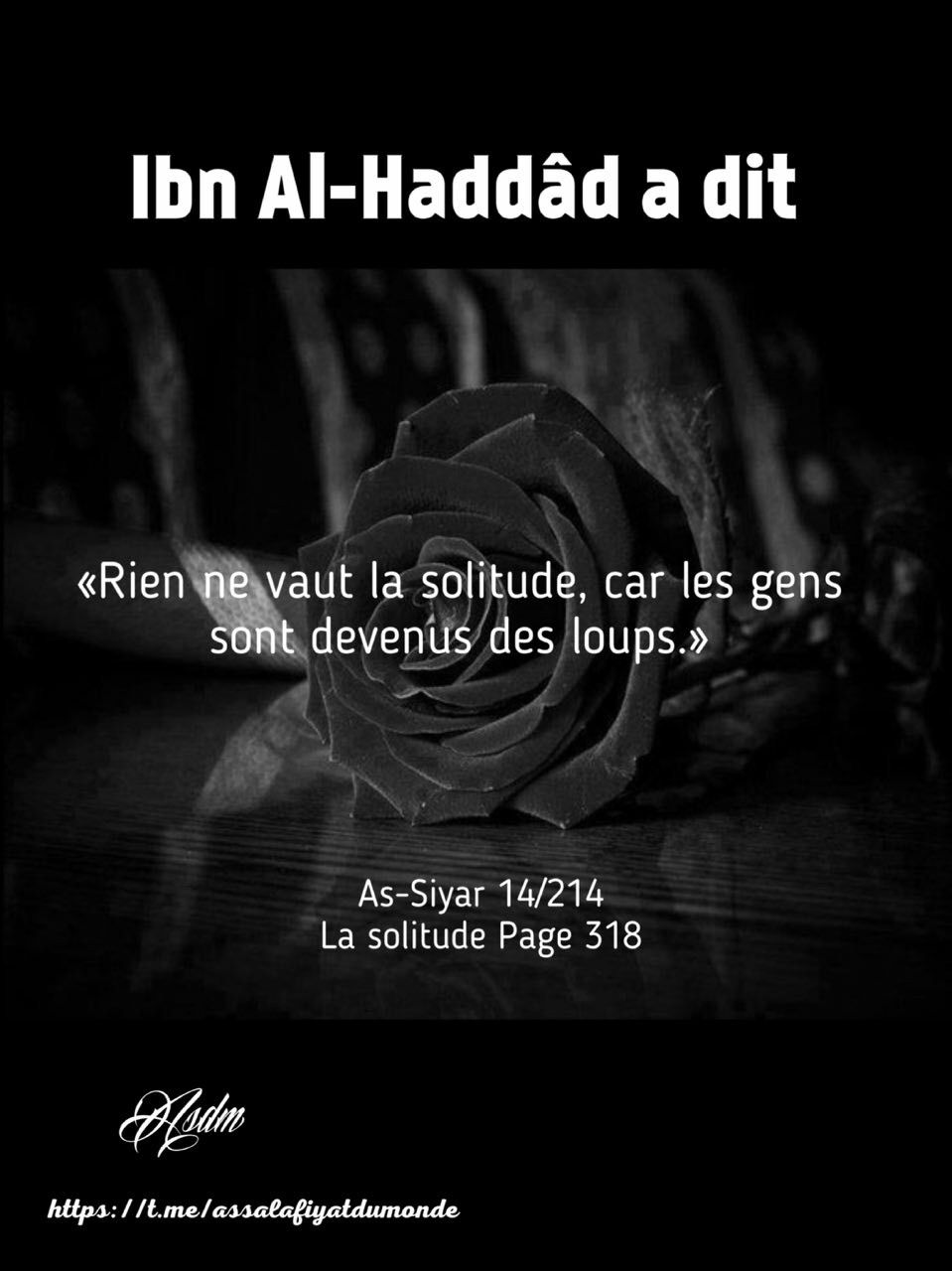 Exceptionnel La solitude | Best quotes ever | Pinterest | Islam and Allah NM64