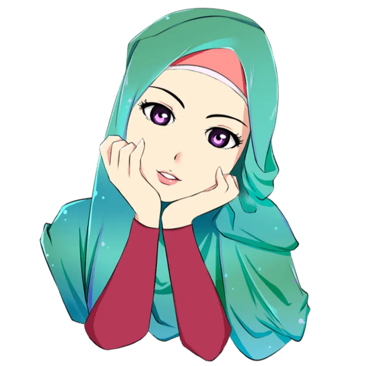 WALLPAPER ANDROID IPHONE Wallpaper Gambar Kartun Muslimah